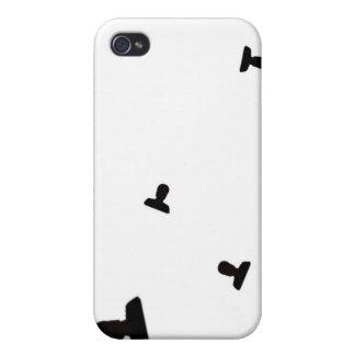 Impresión enojada creciente del icono iPhone 4/4S carcasa