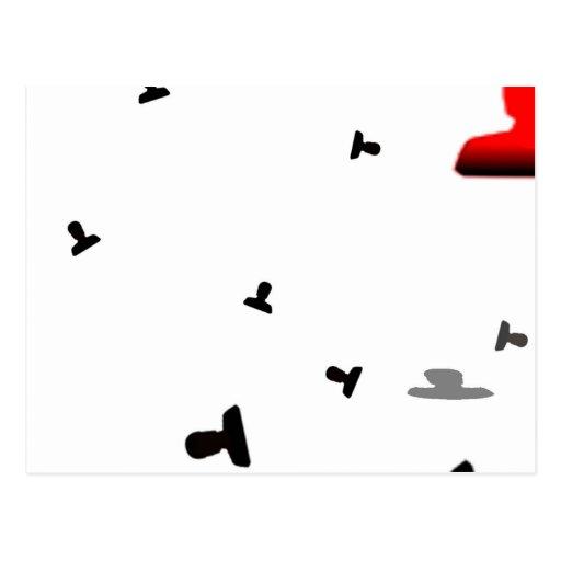 Impresión enojada creciente del icono postales