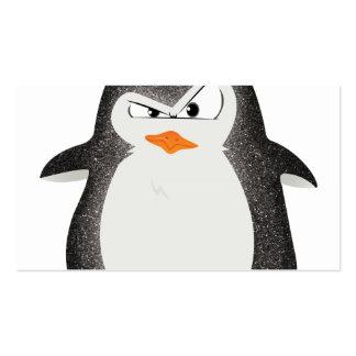 Impresión enojada de la foto del brillo del pingüi plantillas de tarjeta de negocio