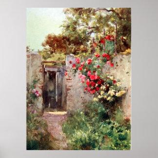 Impresión enorme Gicl de la lona de las flores 191 Poster