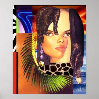 """Impresión enrrollada 14"""" del poster del collage x"""