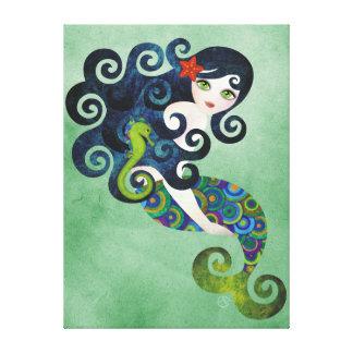 Impresión envuelta Aquamarine del arte de la pared Impresión En Lienzo Estirada