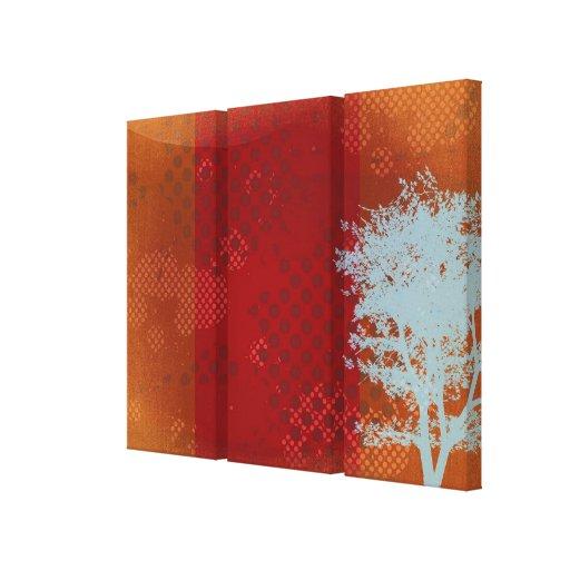 Impresión envuelta árbol abstracto de la lona del  impresión en lona estirada