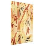 Impresión envuelta bambú contemporáneo de la lona  impresión en lona