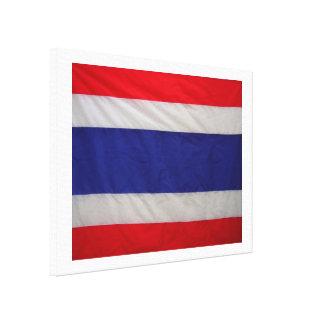 Impresión envuelta bandera tailandesa de la lona lona envuelta para galerias