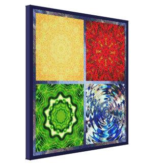 Impresión envuelta cinco elementos de la lona lona estirada galerias