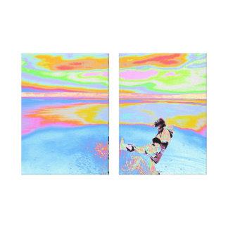 Impresión envuelta ~ de la lona de WaterKicker Impresion De Lienzo