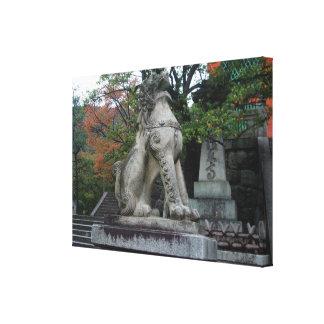 Impresión envuelta estatua de la lona del templo