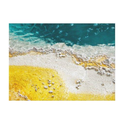 Impresión envuelta extracto de la lona de Yellowst Impresión De Lienzo