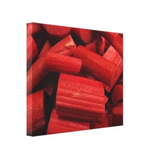 Impresión envuelta extracto de la lona del ruibarb lienzo envuelto para galerias