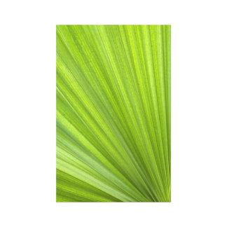Impresión envuelta fronda verde de la lona de la p lienzo envuelto para galerias