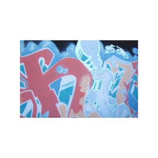 Impresión envuelta pintada azul eléctrica de la lo impresiones en lona estiradas