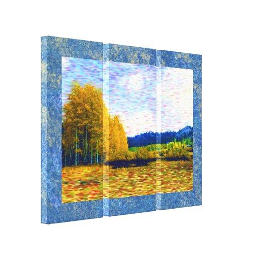 Impresión envuelta prado de la lona de octubre impresión en lienzo estirada