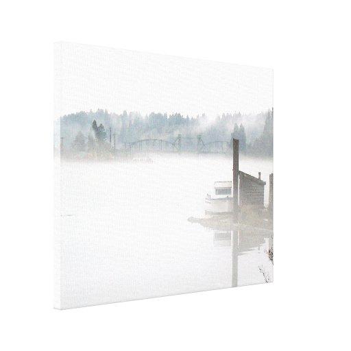 Impresión envuelta puerto brumoso de la lona lona envuelta para galerias