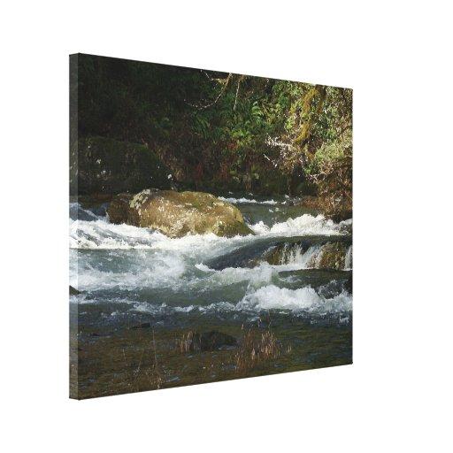 Impresión envuelta Rapids de la lona del río Impresión De Lienzo