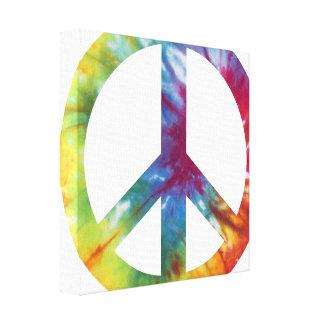 Impresión envuelta signo de la paz teñida lazo de impresión en tela