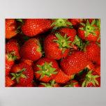 Impresión Erdbeeren de la lona de Leinwanddruck Le Posters