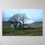Impresión escocesa del paisaje poster