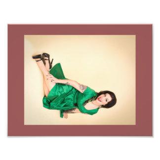 Impresión esmeralda del vestido de Paige Munroe Cojinete