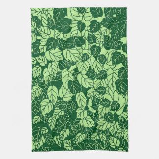 Impresión, esmeralda y verde lima japonesas de la toalla de cocina