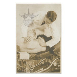 Impresión espinal del vintage del ajuste de la qui impresiones