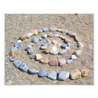 Impresión espiral de la foto de la playa cojinete