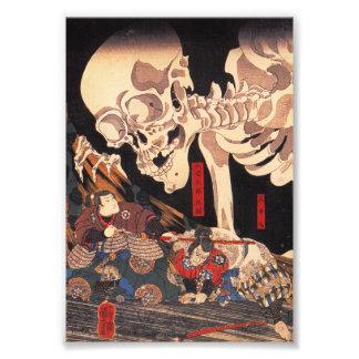 Impresión esquelética de Kuniyoshi Fotografias