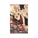 Impresión esquelética de la lona de Kuniyoshi Impresiones De Lienzo