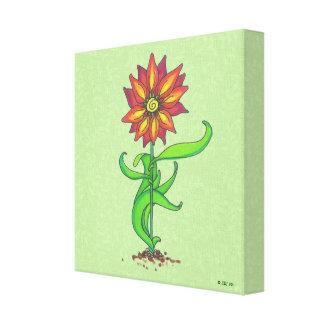 Impresión estilizada de la lona de la flor impresion de lienzo
