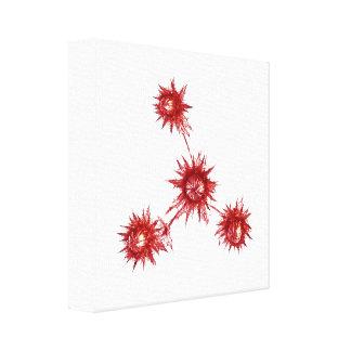 Impresión estilizada de la lona del cardo lienzo envuelto para galerias
