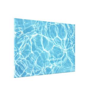 Impresión estirada agua de la lona de la piscina