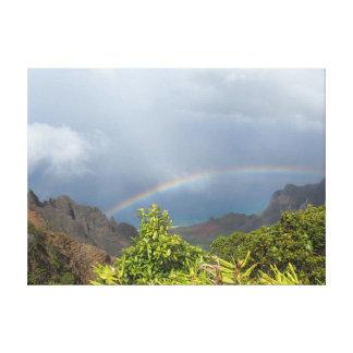 Impresión estirada arco iris de la lona de Kalalau Impresion En Lona