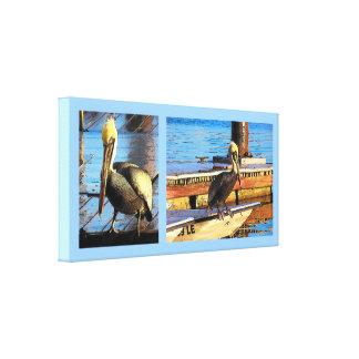 Impresión estirada arte náutico del dibujo animado lienzo envuelto para galerías