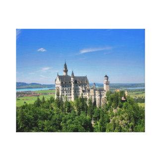Impresión estirada castillo de la lona de Neuschwa Impresión De Lienzo
