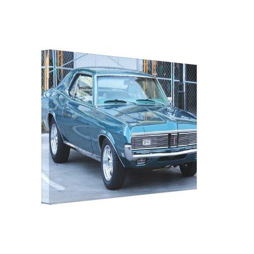 Impresión estirada coche clásico de la lona del pu impresiones en lona