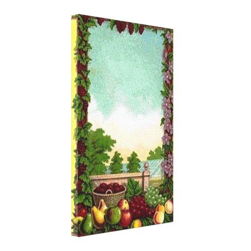 Impresión estirada cosecha de la lona de la fruta  lienzo envuelto para galerias