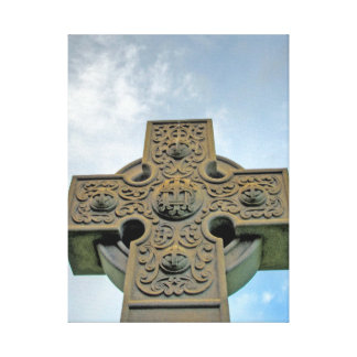 Impresión estirada de la lona de la cruz céltica impresion de lienzo