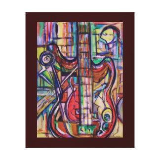 Impresión estirada de la lona de la guitarra baja  lona estirada galerías