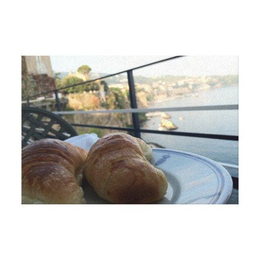 Impresión estirada desayuno de la lona de Sorrento Lona Envuelta Para Galerias