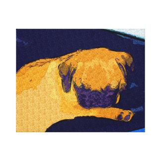 Impresión estirada el dormir adorable de la lona d lona envuelta para galerias