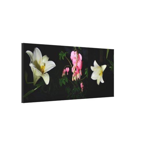 Impresión estirada envuelta flores de la lona lona estirada galerias