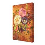 Impresión estirada flor de la lona lienzo envuelto para galerías