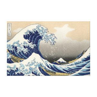 Impresión estirada gran onda de la lona impresión en lona estirada
