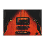 Impresión estirada guitarra dulce de la lona de lo impresion en lona