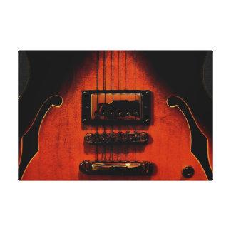 Impresión estirada guitarra dulce de la lona de lo impresión en lienzo estirada