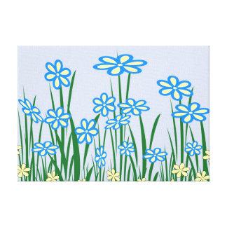 Impresión estirada jardín azul de la lona impresiones en lona estiradas