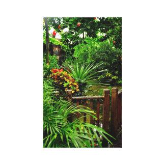 Impresión estirada jardín tropical de la lona lienzo envuelto para galerias