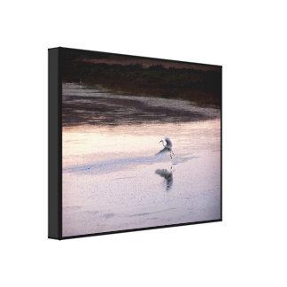 Impresión estirada mañana del Egret Impresiones En Lona Estiradas