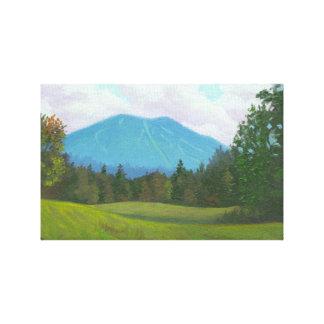 Impresión estirada montaña de la lona de Burke Impresión De Lienzo