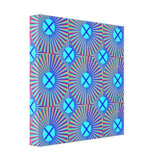 Impresión estirada puntos azules de la lona lienzo envuelto para galerías